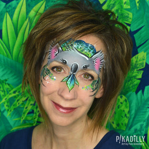 Cute Koala Face Paint Design by Pam Kinneberg