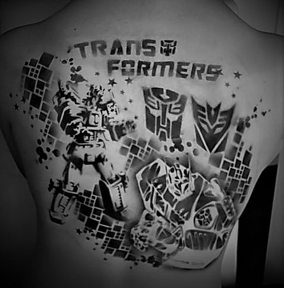 Transformers Airbrush Tattoos by Helene Rantzau
