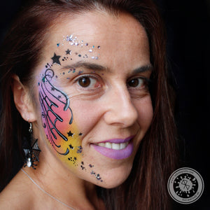 Spiderweb Cheek Art by Belén te Pinta