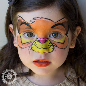 Simba Mask Face Paint by Belén te Pinta