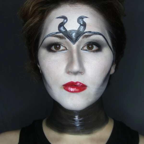 Maleficent Face Paint Tutorial by PTBarpun