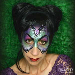 How to Face Paint Maleficent by Pam Kinneberg