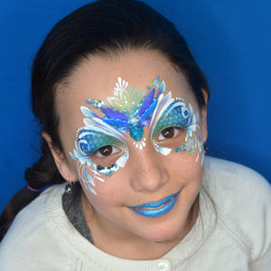 Bling Mermaid Tail Face Paint Design by Pam Kinneberg