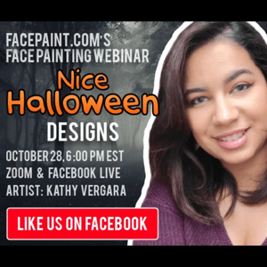 Webinar: How to Face Paint Nice Halloween Designs With Kathy Vergara