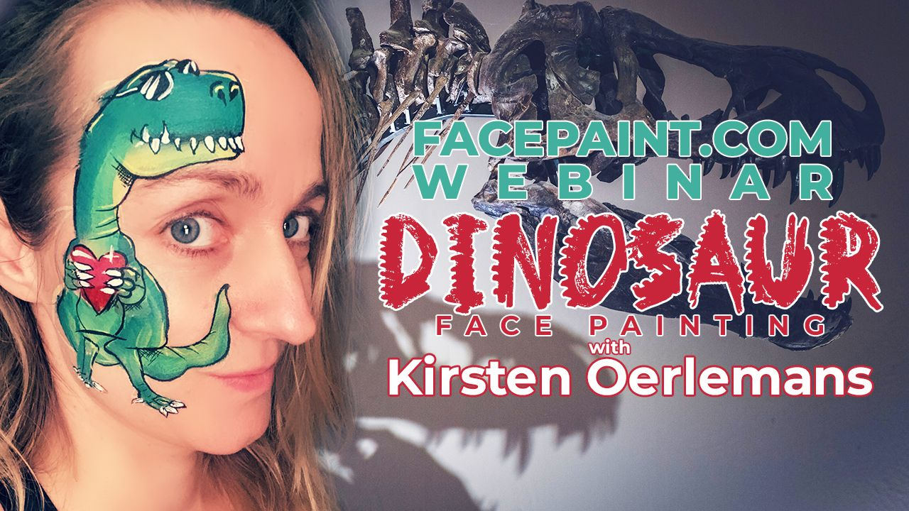Webinar: Dinosaur Face Painting with Kirsten Oerlemans