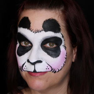Easy Panda Face Paint Video Tutorial by Kiki
