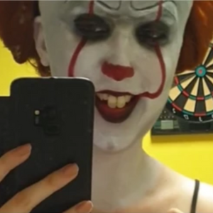 It 2: Pennywise Face Paint Design Video by Ana Cedoviste