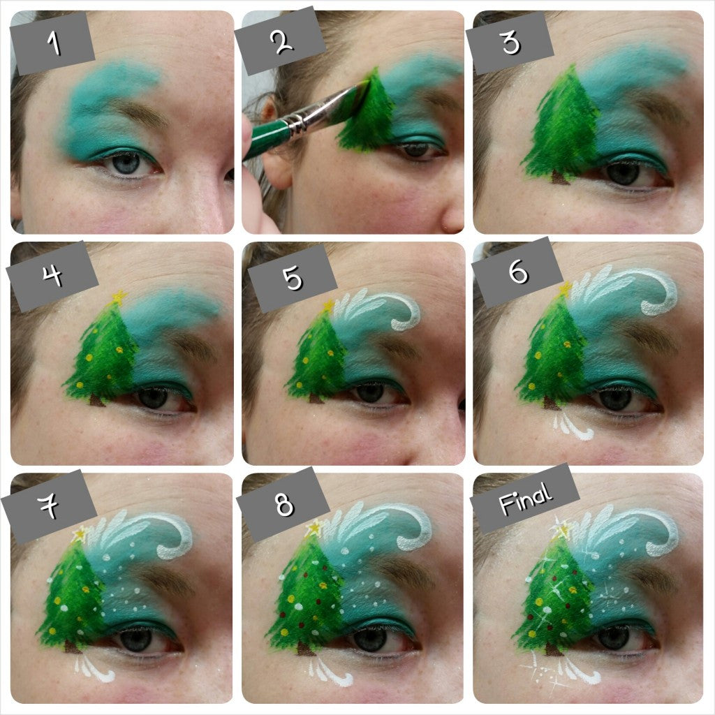 Cute Holiday Tree Eye Design Tutorial
