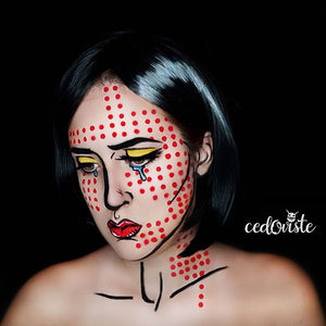 Pop Art Face Paint Video by Ana Cedoviste