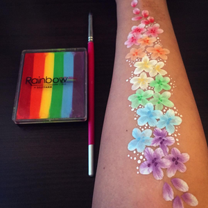 Video: Rainbow Flowers Arm Design