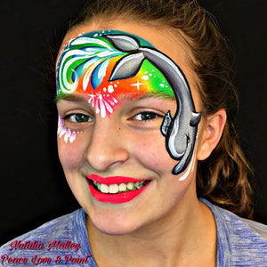 One-stroke Rainbow Dolphin Video Tutorial by Natalia Malley