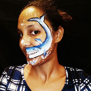 Talking Shark Face Paint Video by Crystal