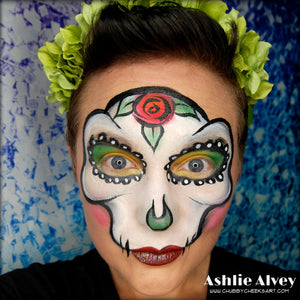 Sugar Skull Video Tutorial by Artist Ashlie Alvey