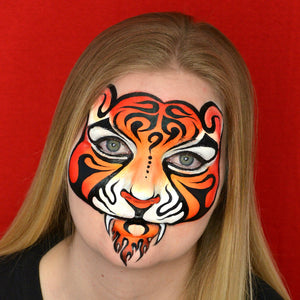 Fiery Tribal Fantasy Tiger Tutorial by Pam Kinneberg