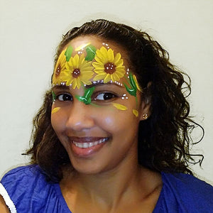 Sunflower Face Paint Video by Crystal