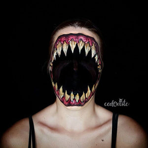 Tooth Monster Face Paint Video by Ana Cedoviste