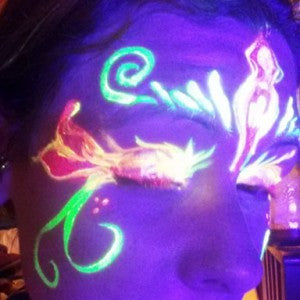 Painting with Blacklight Reflective - A UV Fire Fairy Mask