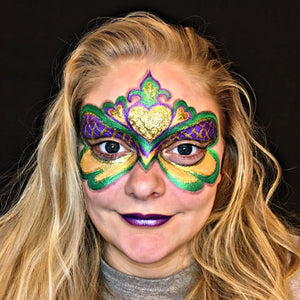 Mardi Gras Festival Mask tutorial by Natalia Malley
