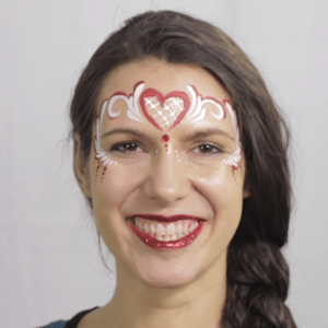 Valentine's Day Crown Face Paint Tutorial by Shelley Wapniak