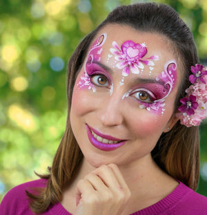 Valentine Princess Face Paint Video by Marta Ortega
