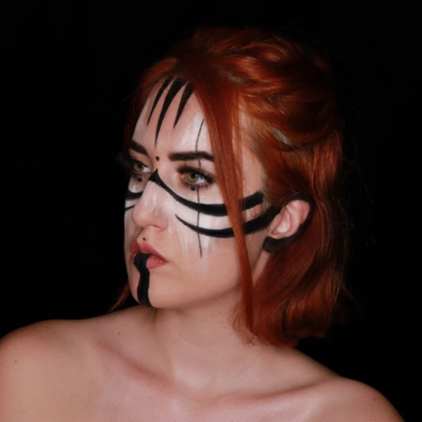 Warrior Face Paint Video by Ana Cedoviste
