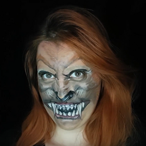 Werewolf Face Paint Design Video by Ana Cedoviste