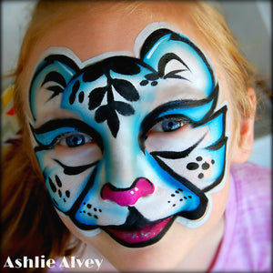 Icy White Tiger Video Tutorial by Artist Ashlie Alvey