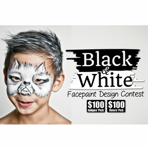 Contest Winners: Black & White Face Paint Design