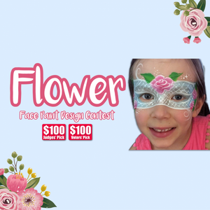 Contest Winners: Flower Face Paint Design