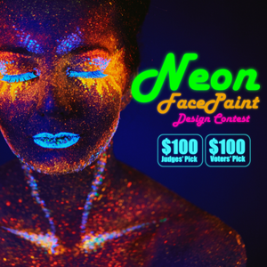 Contest: Neon Face Paint Design - Win $100