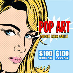 Contest: Pop Art Face Paint Design Contest! Win $100!