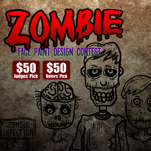 Contest: Zombie Face Paint Design! Two $50 Prizes!