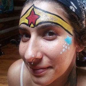 How to Face Paint Wonder Woman!