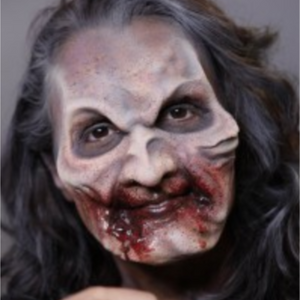 Zombie Prosthetic Face Paint Video Tutorial by Athena Zhe
