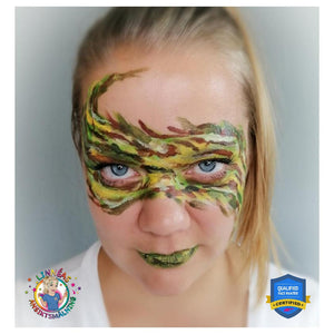Fierce Camouflage Face Paint Video Tutorial by Linnéa Önnerby Novak