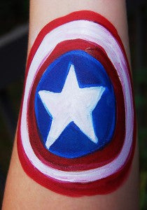 How to Face Paint Captain America's Shield!