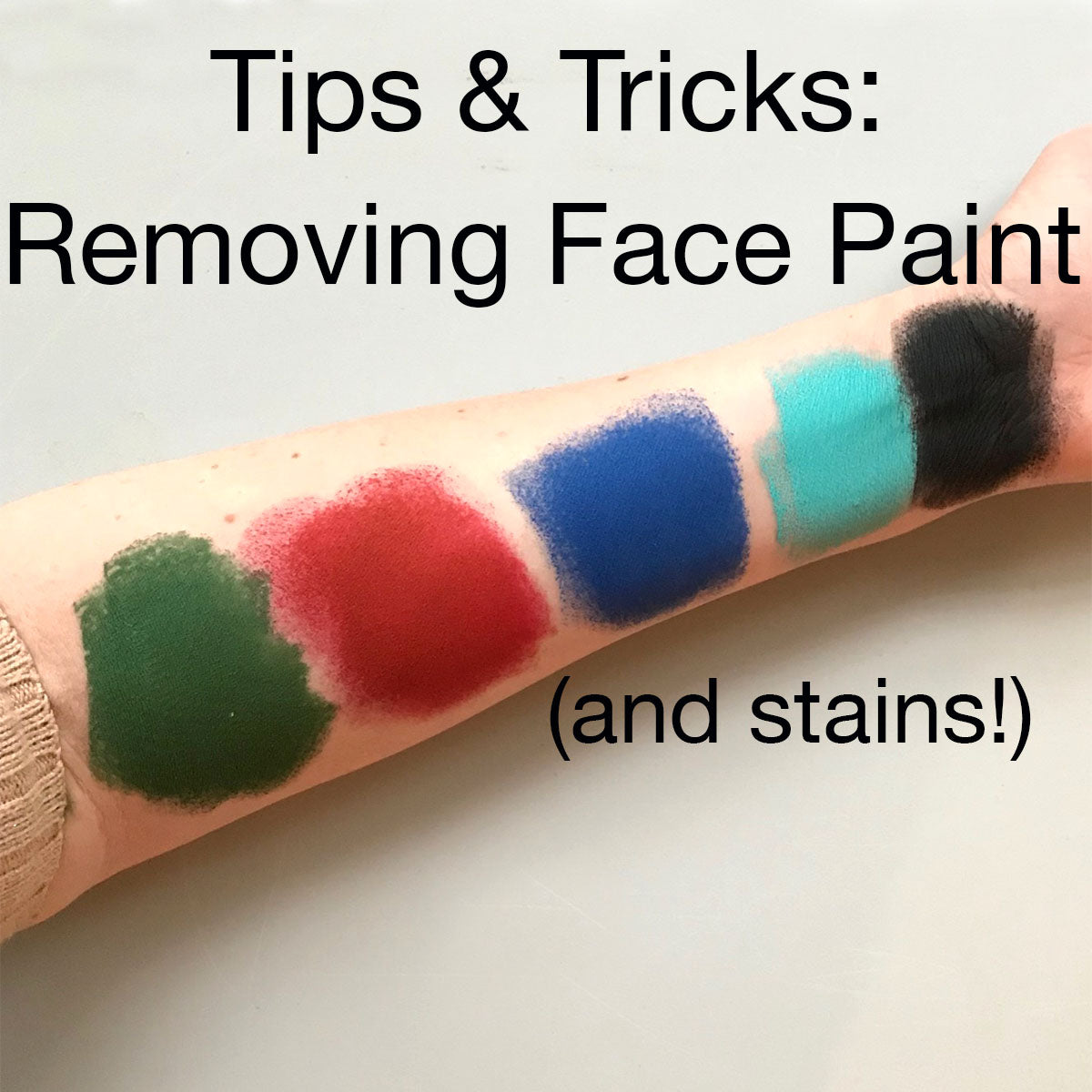 How To Remove Face Paint and Stains