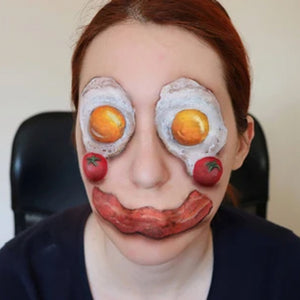 Food Face Paint Design Video by Ana Cedoviste