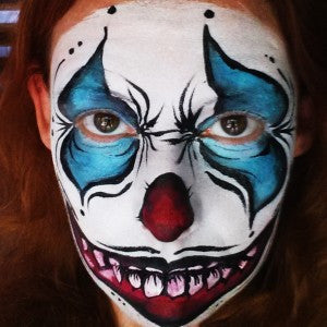 How to face paint a Scary Clown