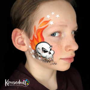 Flaming Skull by Kristin Olsson