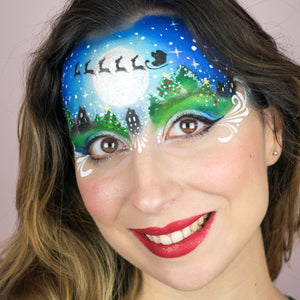 Quick and Easy Santa Claus Face Paint