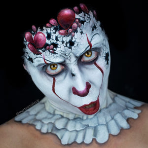 Pennywise Face Paint Tutorial - Pennywise's Destruction Halloween Makeup