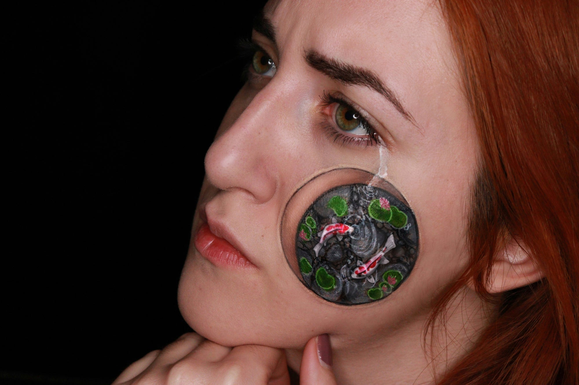 Koi Fish Face Paint Design Video by Ana Cedoviste