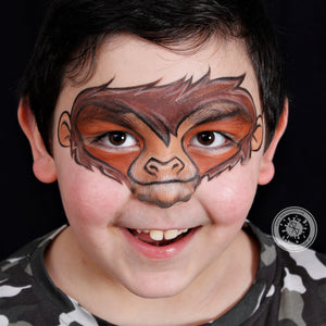 Monkey Face Paint by Belén te Pinta
