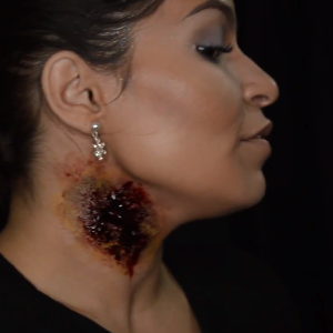 Neck Wound Makeup Video Tutorial by Stephany Lynn