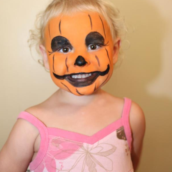 Cute Pumpkin Face Paint Design