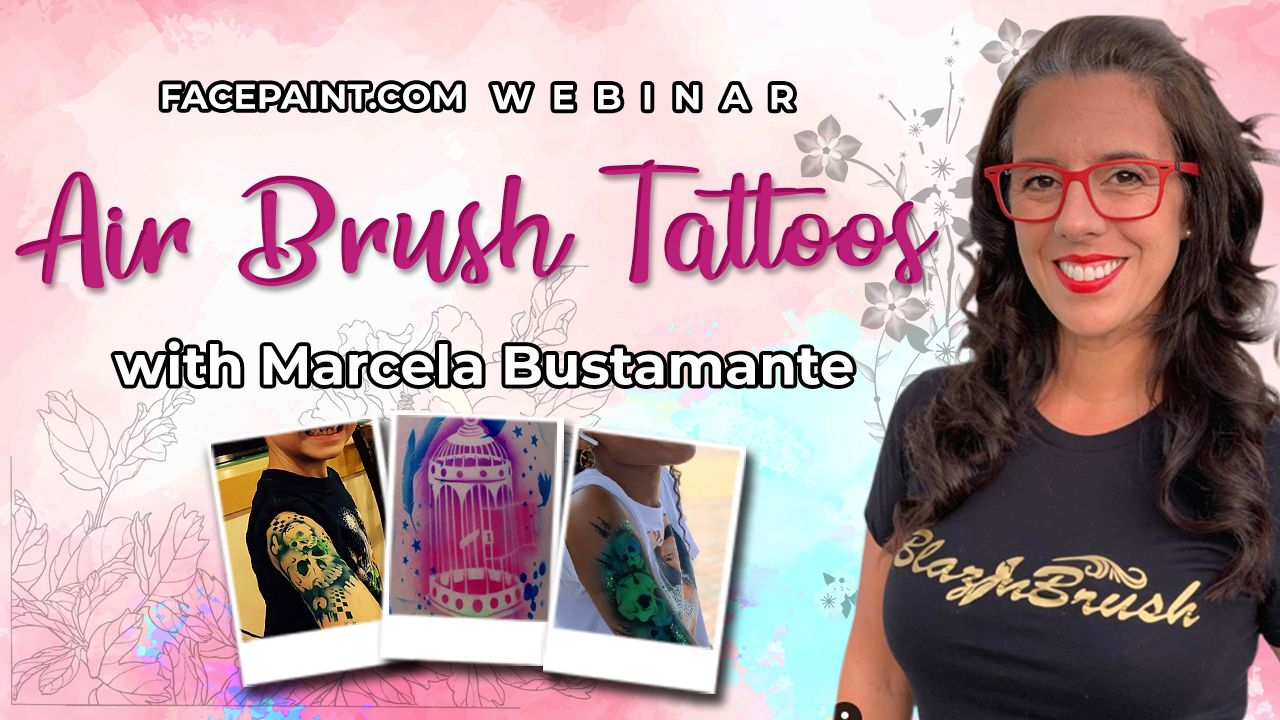 Webinar: Airbrush Tattoos with Marcela Bustamante