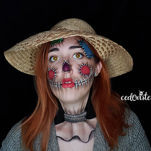 Scarecrow Illusion Face Paint Video by Ana Cedoviste