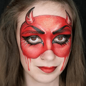 She Devil Face Paint by Kellie Burrus
