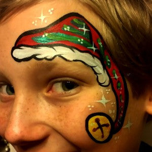 How to Paint a Cute Christmas Elf Hat Design